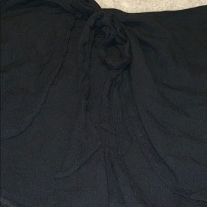 Free people wrap shorts skirt black soft gauze tie